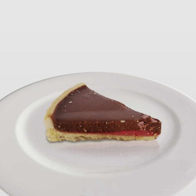 Tarta de Chocolate y Crujiente de Frutos del Bosque