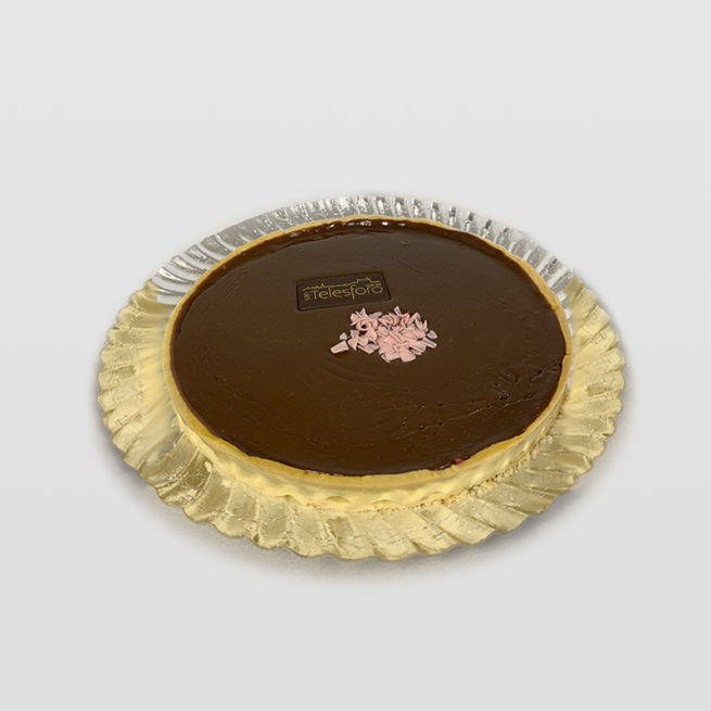Tarta de Chocolate y Crujiente de Caramelo y Avellanas