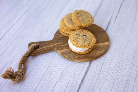 Sandwich de cookies con helado