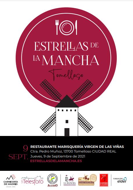 2ª cena Estrellas de La Mancha Tomelloso. helado de AOVE Cornicabra y Tarta de Mazapán